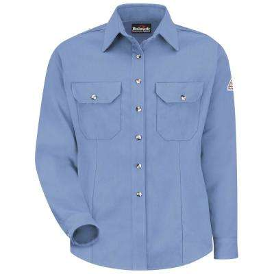"""CoolTouch Women's Medium Light Blue Dress Uniform Shirt"""