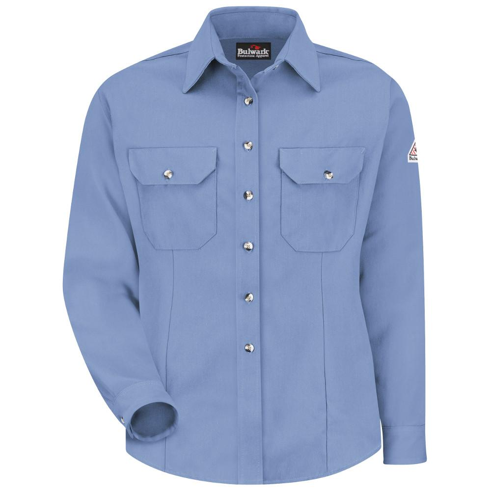 """CoolTouch Women's Large Light Blue Dress Uniform Shirt"""
