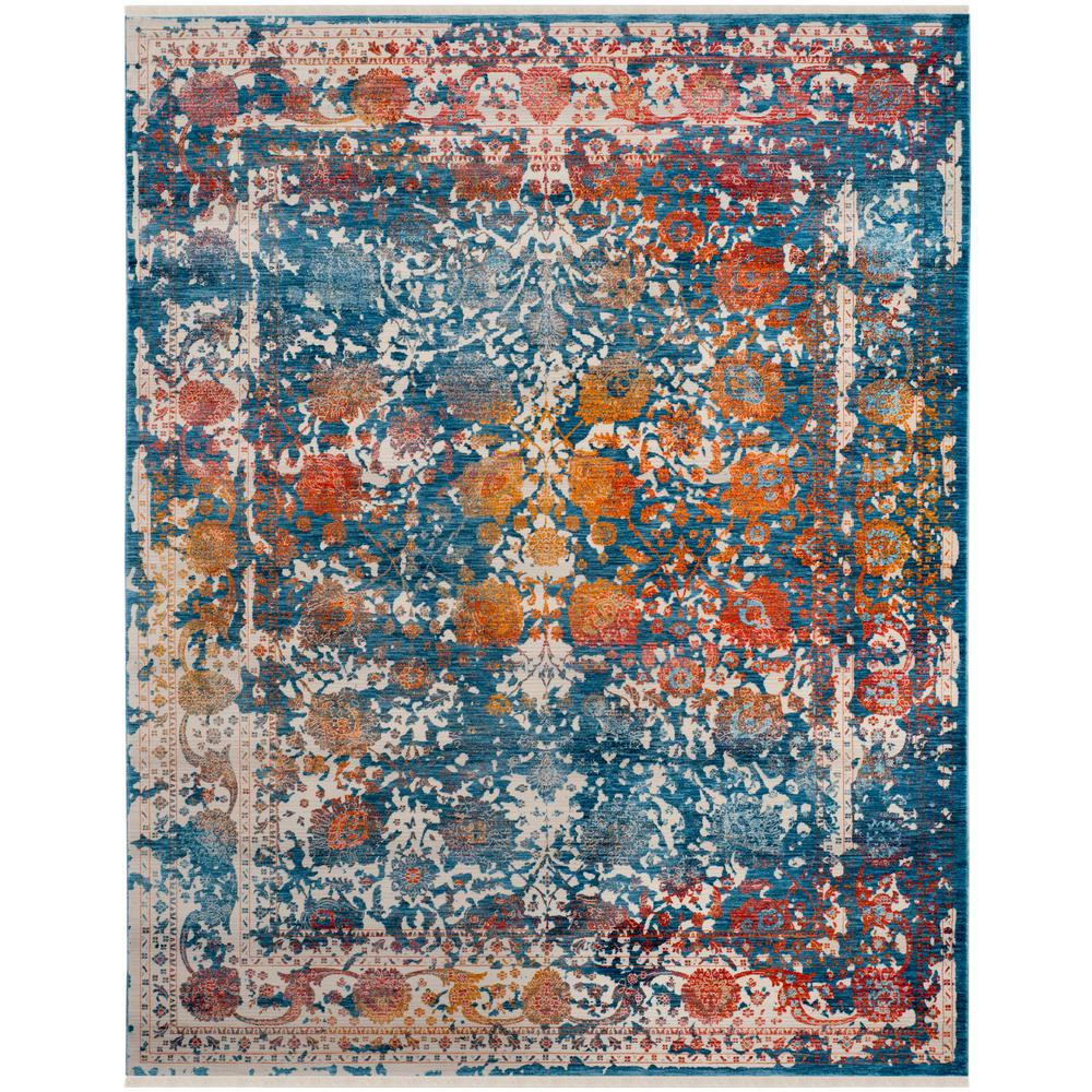 Safavieh Vintage Turquoise And Multi Colored Area Rug: Safavieh Vintage Persian Turquoise/Multi 9 Ft. X 12 Ft