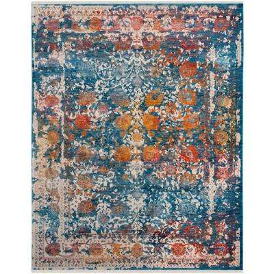 Vintage Persian Turquoise/Multi 9 ft. x 11 ft. 7 in. Area Rug