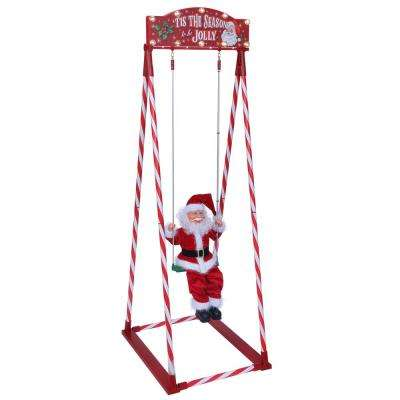 56 in. Swinging Santa