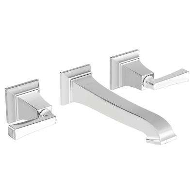 Town Square S 2-Handle Wall Mount Bathroom Faucet in Polished Chrome