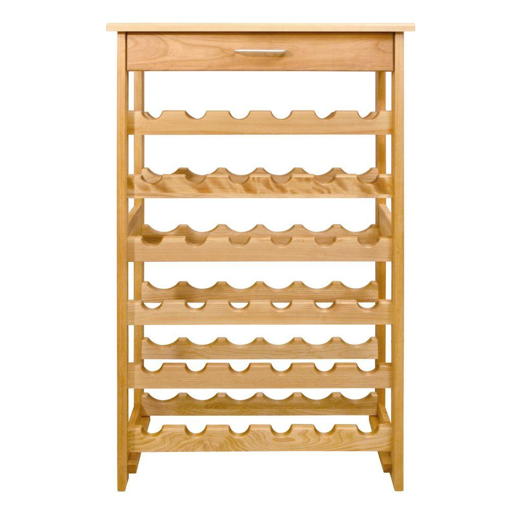 Catskill Craftsmen 36 Bottle Natural Wood Floor Wine Rack 7237