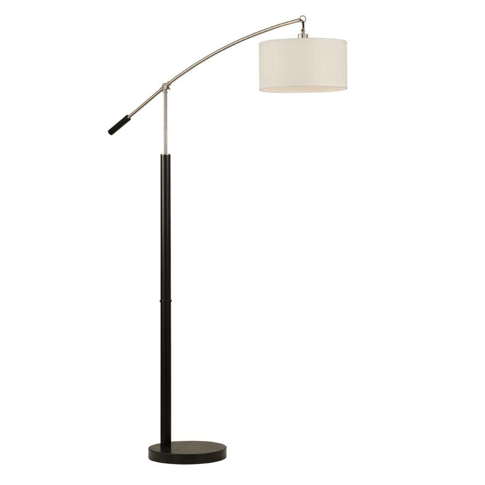 Filament Design Astrulux 84 in. Brushed Nickel Incandescent Floor Lamp
