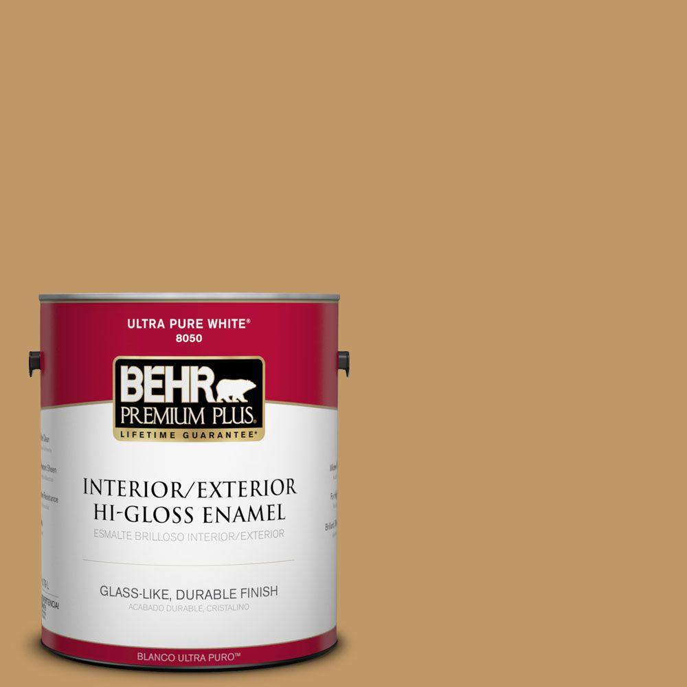 BEHR Premium Plus 1-gal. #310F-5 Donegal Tweed Hi-Gloss Enamel Interior/Exterior Paint