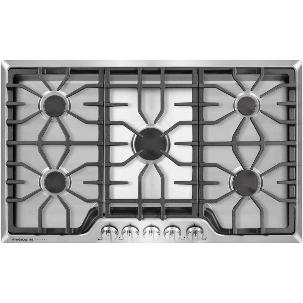 frigidaire gallery 36 in gas cooktop in stainless steel with 5 jgp329setss ge 30