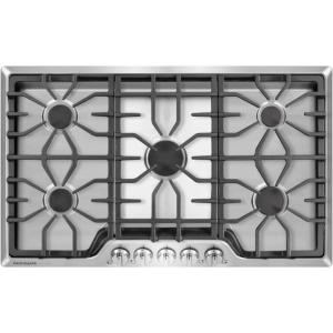 36 in. Gas Cooktop in Stainless Steel with 5 Burners