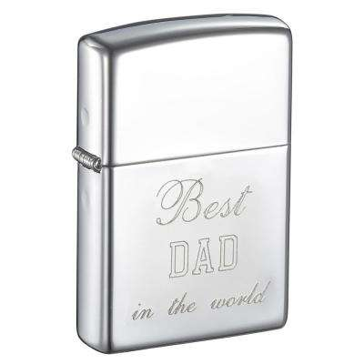Zippo High Polish Chrome Finish Father's Day Lighter