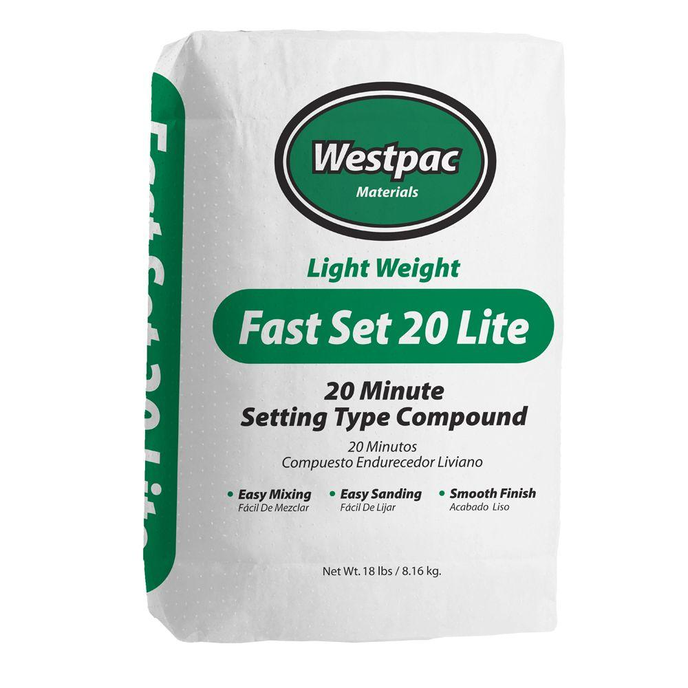 Westpac Materials 18 lb. Fast Set 20 Lite Setting-Type Joint Compound