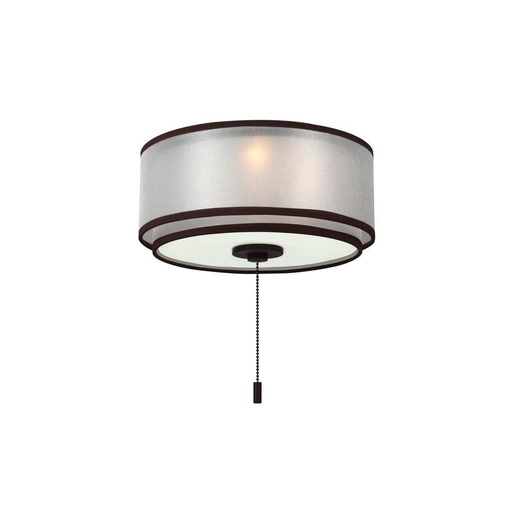 3-Light Roman Bronze Ceiling Fan Light Kit