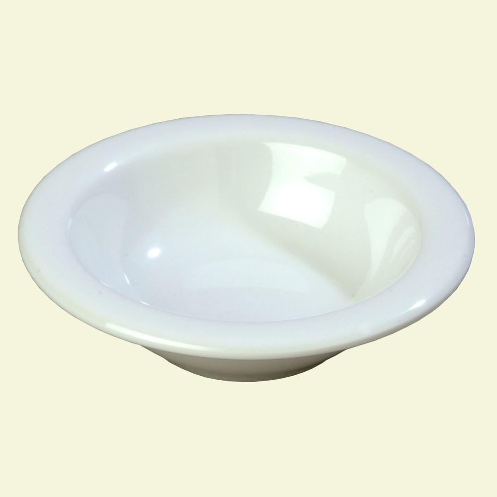 4.5 oz., 4.84 in. Diameter Melamine Rimmed Fruit Bowl in White (Case of 48)