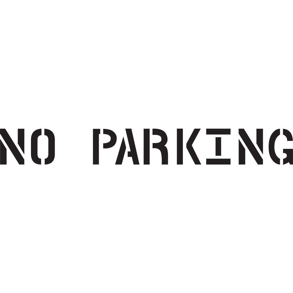 Stencil Ease 24 in. No Parking Stencil