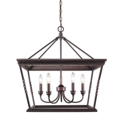 Davenport 5-Light Etruscan Bronze Chandelier