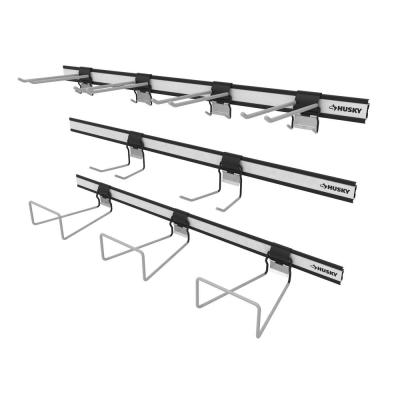 Garage Wall Track Large Tool and Garden Starter Kit (12-pieces)