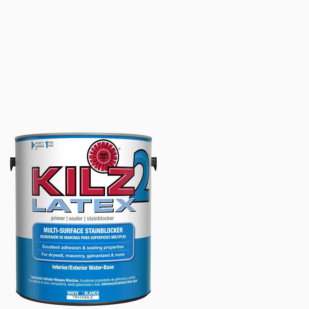 Kilz 2 kilz 2 latex 1 gal white interior exterior multi - Exterior acrylic latex stain blocking primer ...