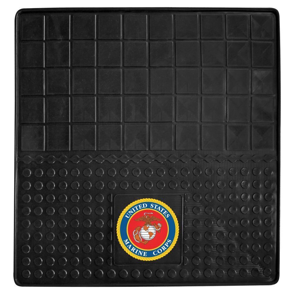 MIL U.S. Marines Heavy Duty 31 in. x 31 in. Vinyl Cargo Mat