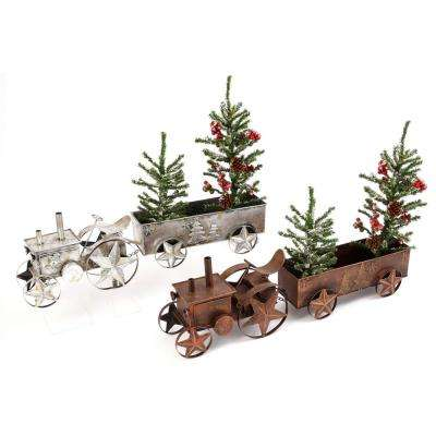 l metal tractors - Metal Christmas Decorations