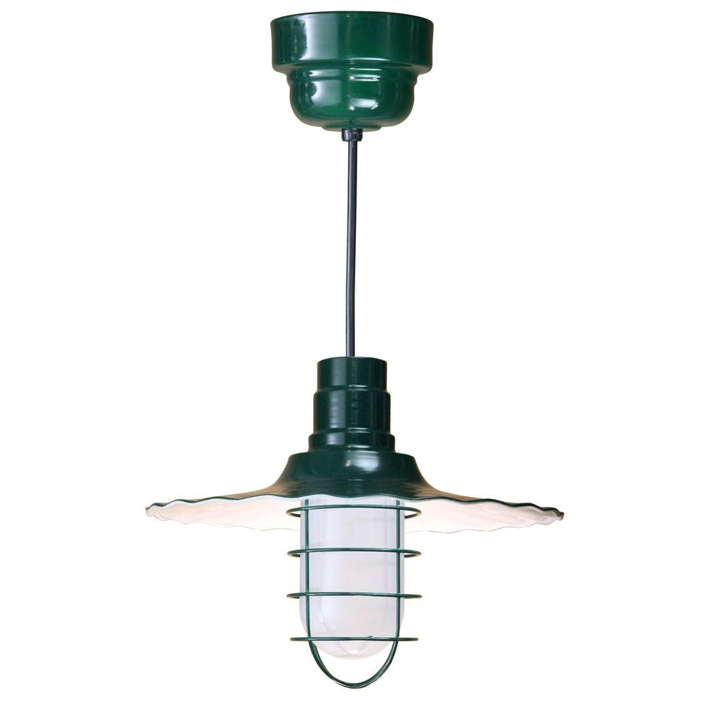 1 Light Ceiling Black Fluorescent Pendant