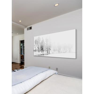 "22.5 in. H x 45 in. W ""Winter River"" by Marmont Hill Printed Canvas Wall Art"