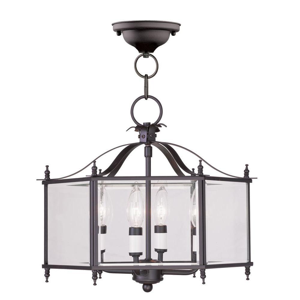 Providence 4-Light Bronze Incandescent Ceiling Pendant