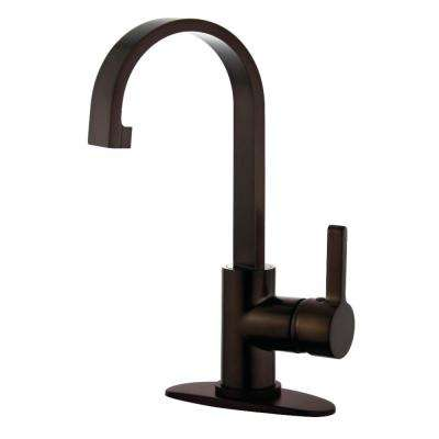 Modern 4 in. Centerset Single-Handle High-Arc Bathroom Faucet in Oil Rubbed Bronze