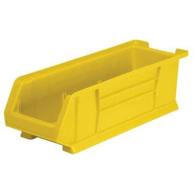 Super-Size AkroBin 8.2 in. 200 lbs. Storage Tote Bin in Yellow with 3.5 Gal. Storage Capacity
