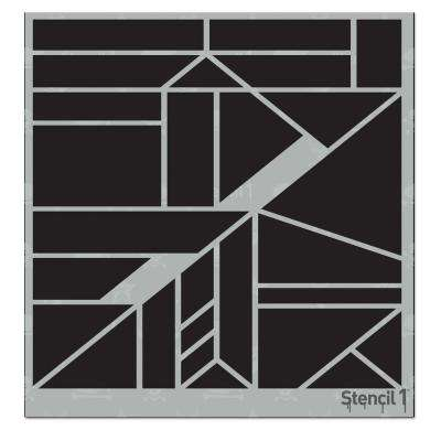 Geometric Large Repeat Pattern Stencil