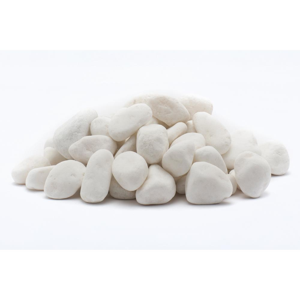 1 cm., 5 lb. Snow White Mini Pebbles