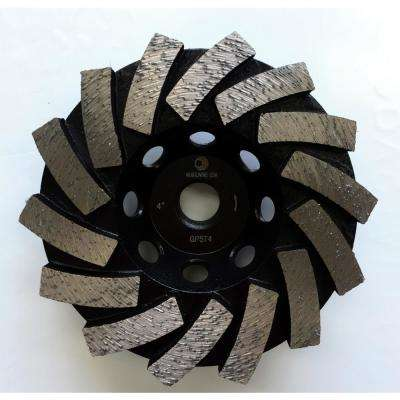 4 in. Segmented Diamond Grinding Cup Wheel for Concrete and Mortar