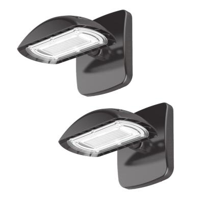 100-Watt Equivalent Integrated LED Flood Light and Wall Pack Combo, 1500 Lumens, Outdoor Security Lighting (2-Pack)