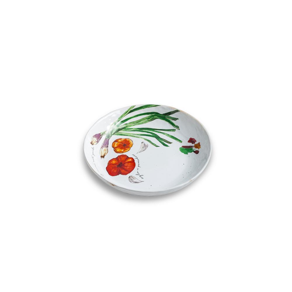 Farm to Table White Spring Onion Serving Bowl