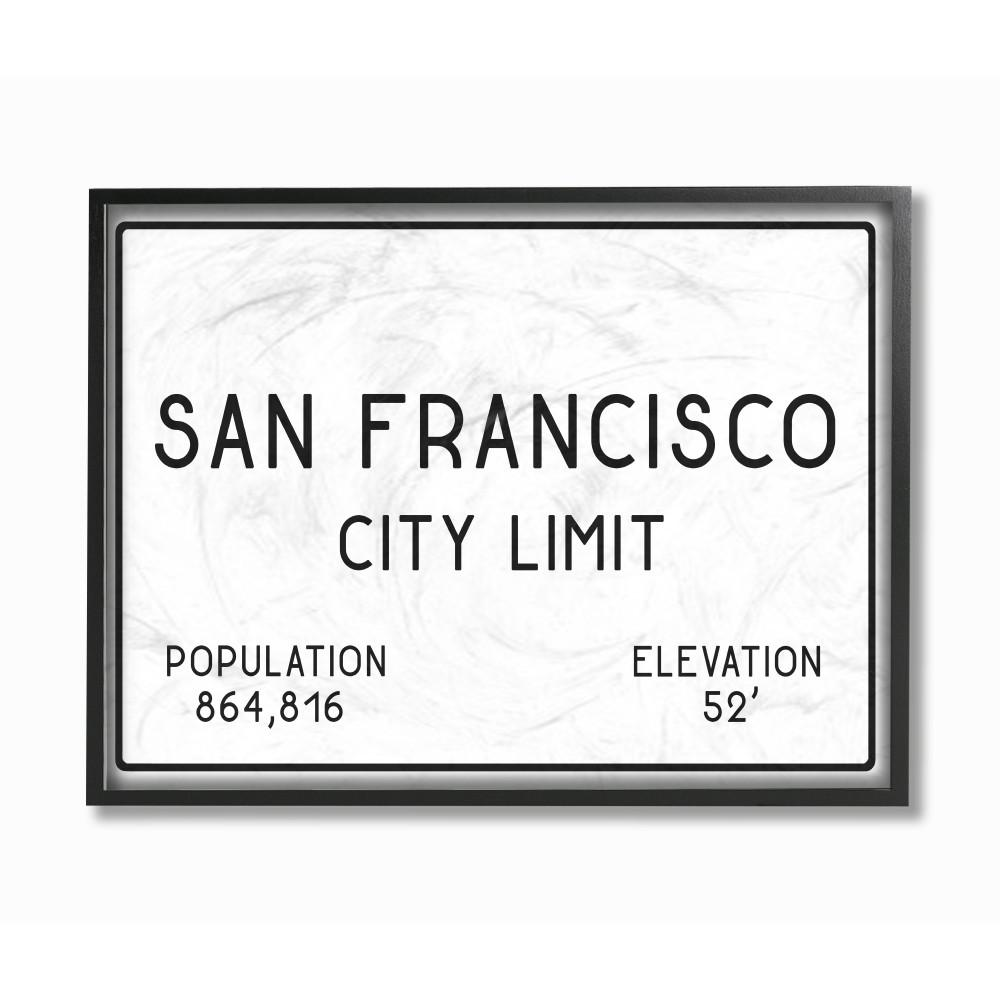 The Stupell Home Decor Collection 11 In X 14 San Francisco City Limit By Daphne Polselli Wood Framed Wall Art Cw 1360 Fr 11x14