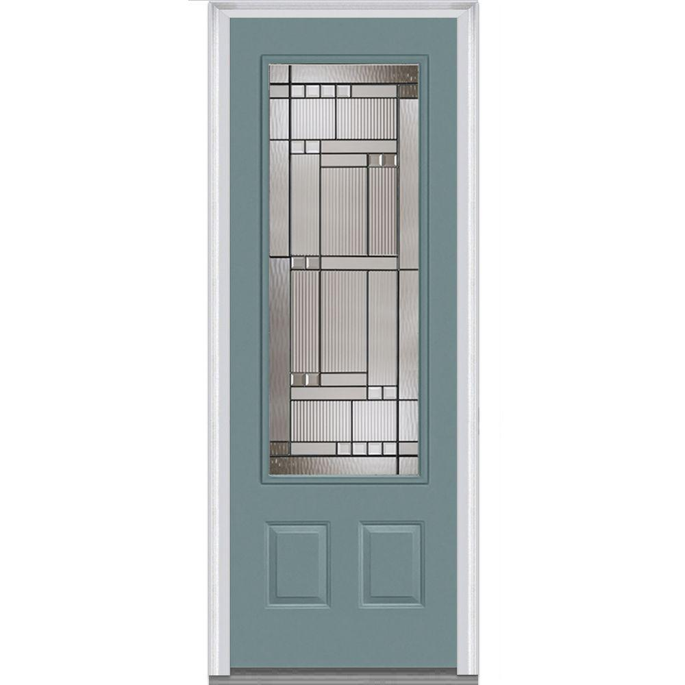 MMI Door 36 in. x 96 in. Kensington Right-Hand 3/4  sc 1 st  The Home Depot & MMI Door 36 in. x 96 in. Kensington Right-Hand 3/4 Lite 2-Panel ...