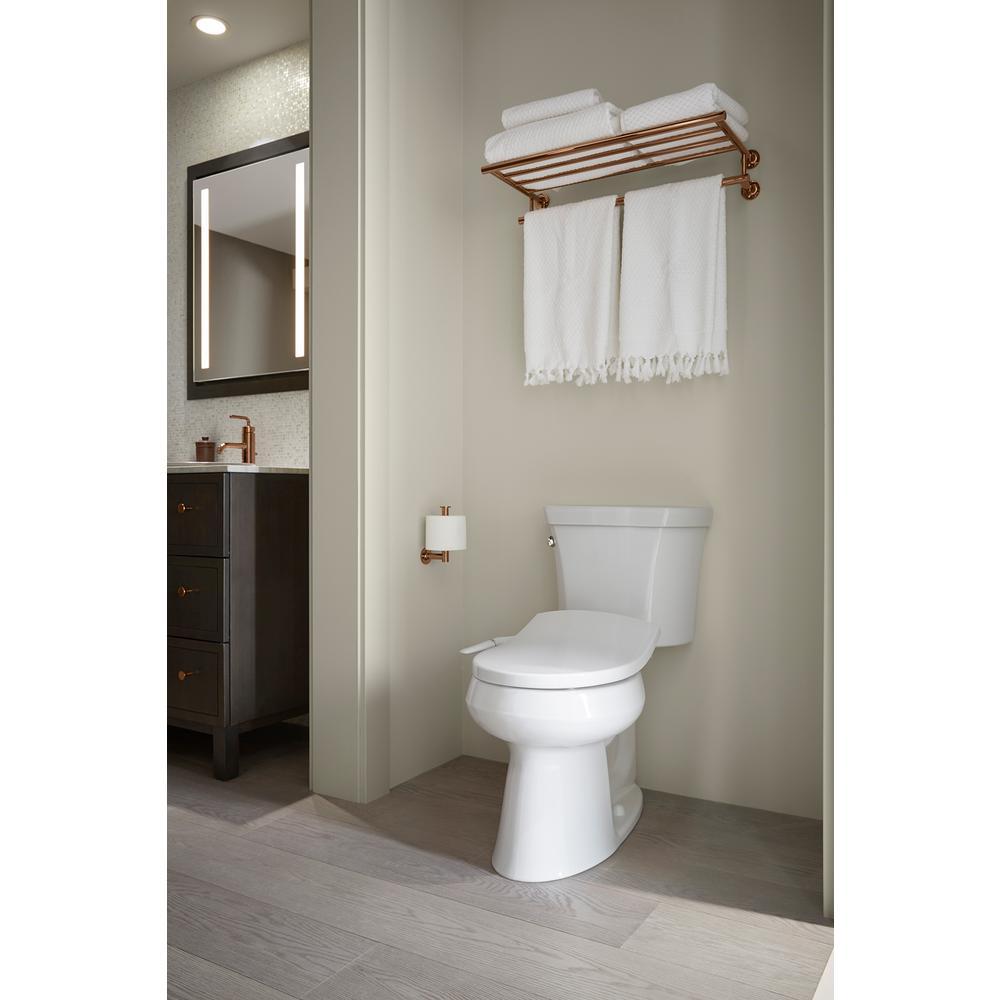 Astonishing Kohler Puretide Non Electric Bidet Seat For Round Toilets In White Machost Co Dining Chair Design Ideas Machostcouk
