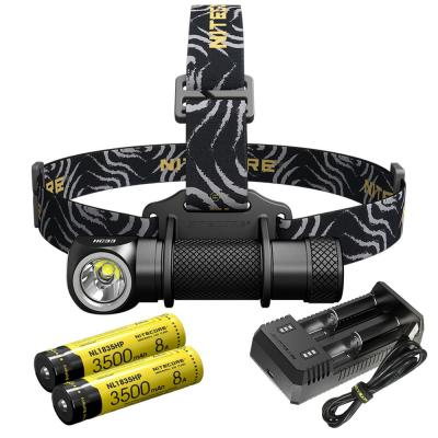 1800 Lumen LED Headlamp with Dual Batteries and USB Charger