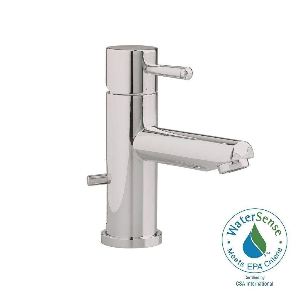 American Standard Serin Single Hole Single Handle Low-Arc Bathroom Faucet with Speed Connect Drain in Brushed Nickel