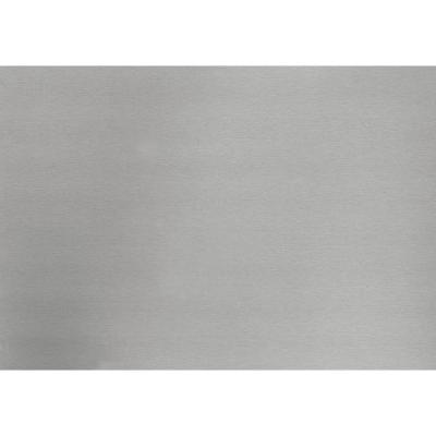 26 in. x 59 in. Metallic Brush Silver Self-adhesive Vinyl Film for Furniture and Door Renovation/Decoration