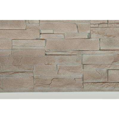 Dry Stacked Stone 41-1/2 in. x 13-1/8 in. Limestone Siding (10-Pack)
