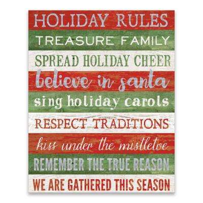 """""""Holiday Rules"""" by Lot26 Studio Printed Canvas Wall Art"""