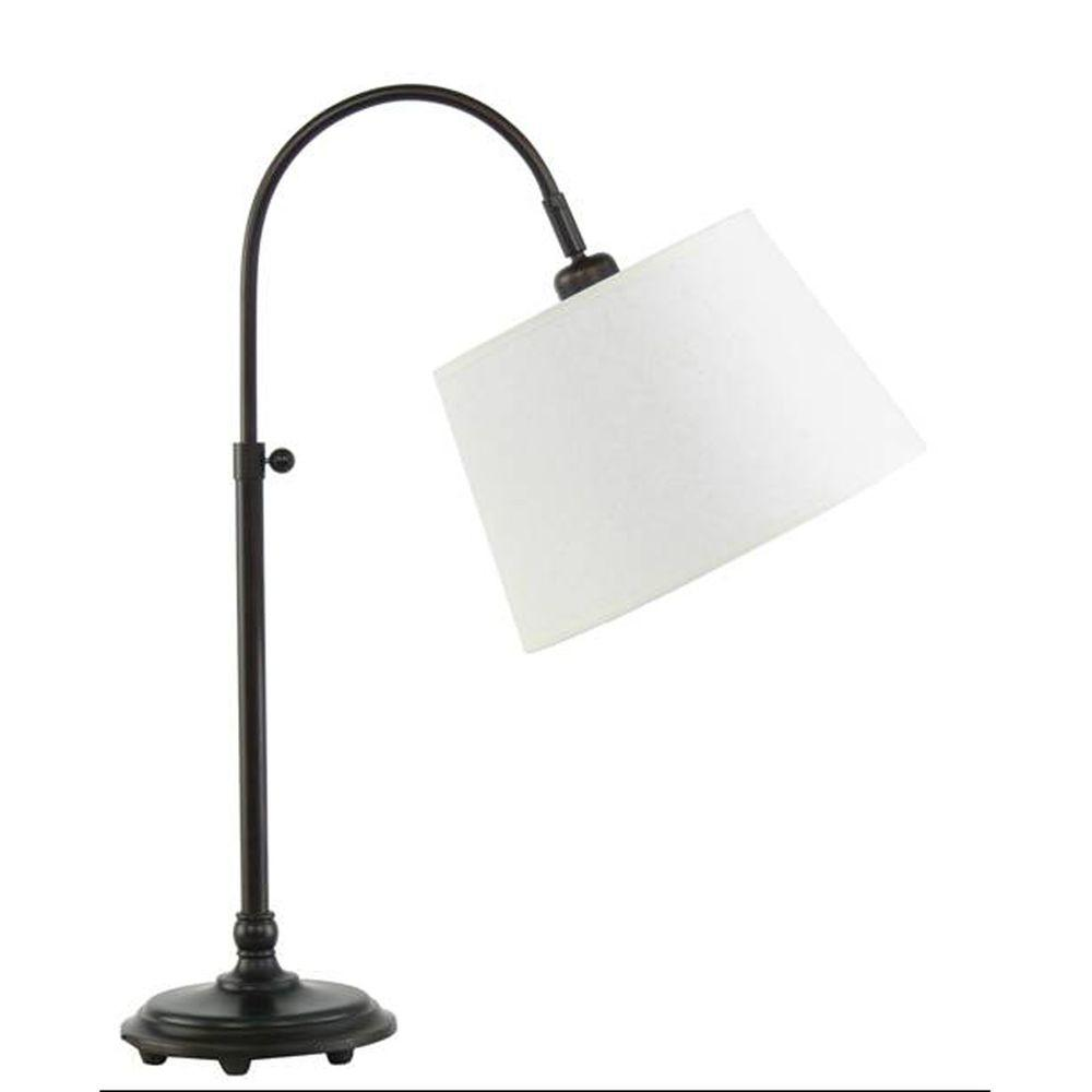 Touch sensor bronze table lamps lamps the home depot adjustable metal arch table lamp geotapseo Choice Image