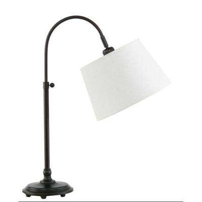 21 in. to 28 in. Adjustable Metal Arch Table Lamp