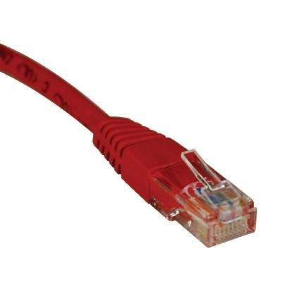 1-ft. Cat5e / Cat5 350MHz Molded Patch Cable RJ45 M/M - Red
