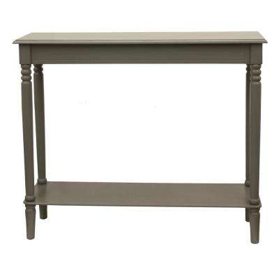 Simplify Eased Edge Gray Large Console Table