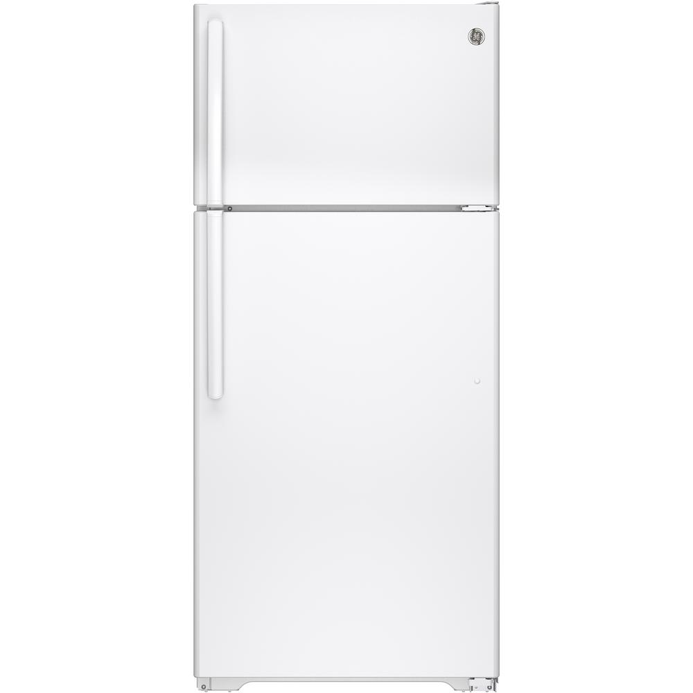 Ge 15 5 Cu  Ft  Top Freezer Refrigerator In White