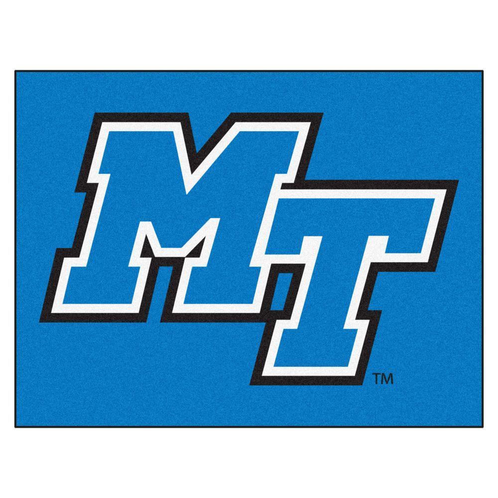 Middle Tennessee State University >> Fanmats Ncaa Middle Tennessee State University Blue 3 Ft X 4 Ft Area Rug