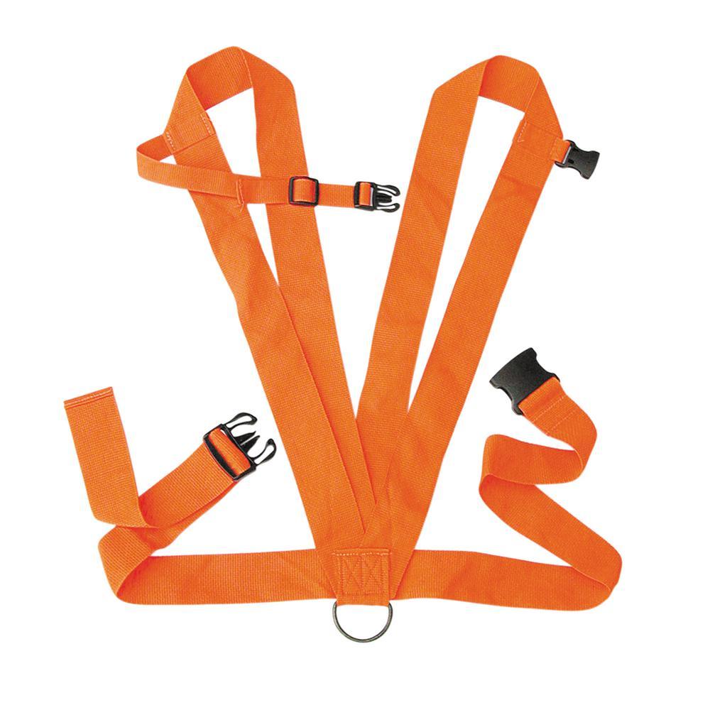 Dual Harness Deer Drag in Orange
