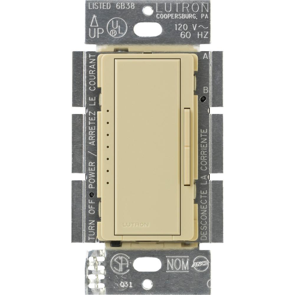 Maestro 600-Watt Multi-Location Electronic Low-Voltage Digital Dimmer - Ivory
