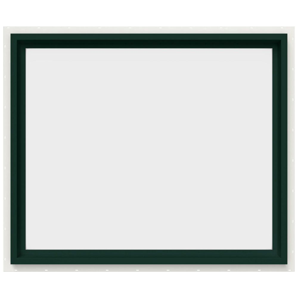JELD-WEN 35.5 in. x 29.5 in. V-4500 Series Fixed Picture Vinyl Window in Green