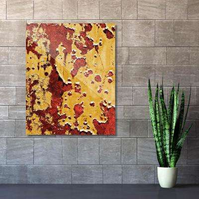 """20 in. x 24 in. """"Flaking Wall Caution"""" Acrylic Wall Art Print"""