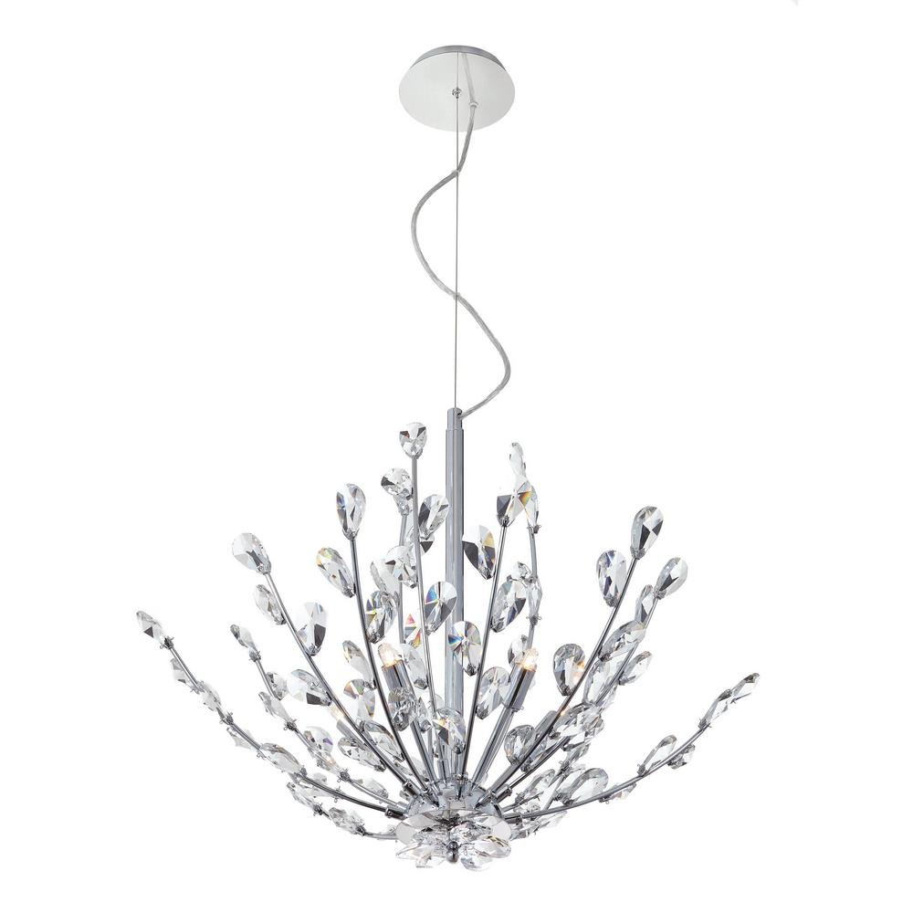 Home Decorators Collection Hetcherson 5-Light Chrome Pendant